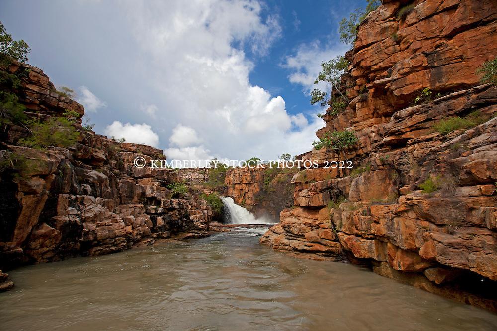 Ruby Falls in the Kimberley wet season.