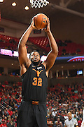 LUBBOCK, TX - MARCH 1: Shaquille Cleare #32 of the Texas Longhorns goes up to dunk the basketball during the game against the Texas Tech Red Raiders on March 1, 2017 at United Supermarkets Arena in Lubbock, Texas. Texas Tech defeated Texas 67-57. (Photo by John Weast/Getty Images) *** Local Caption *** Shaquille Cleare
