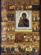 Mary the Mother of God. Icon, Russian School, 17th century. Oil on wood. Private collection