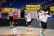 DESCRIZIONE: Berlino EuroBasket 2015 - Allenamento<br /> GIOCATORE:Alessandro Gentile Danilo Gallinari  Daniel Hackett Andrea Bargnani<br /> CATEGORIA: Allenamento<br /> SQUADRA: Italia Italy<br /> EVENTO:  EuroBasket 2015 <br /> GARA: Berlino EuroBasket 2015 - Allenamento<br /> DATA: 07-09-2015<br /> SPORT: Pallacanestro<br /> AUTORE: Agenzia Ciamillo-Castoria/M.Longo<br /> GALLERIA: FIP Nazionali 2015<br /> FOTONOTIZIA: Berlino EuroBasket 2015 - Allenamento