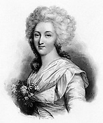 Madame Elizabeth (1764-94) sister of Louis XVI, guillotined during the French Revolution. Engraving.
