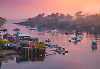 A misty sunset created the most beautiful light over Mackerel Cove on Bailey Island. I went a little mad during this one, driving all over the place trying to capture these ethereal conditions