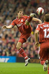 LIVERPOOL, ENGLAND - WEDNESDAY, SEPTEMBER 20th, 2006: Liverpool's Daniel Agger in action against Newcastle United during the Premiership match at Anfield. (Pic by David Rawcliffe/Propaganda)