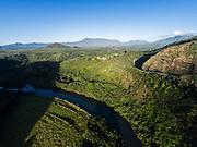 Aerial photograph of the Wailua River, Kauai, Hawaii