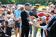 Pep Guardiola signs autographs during the Celebrity Pro-Am day at Wentworth Club, Virginia Water, United Kingdom on 23 May 2018. Picture by Phil Duncan.