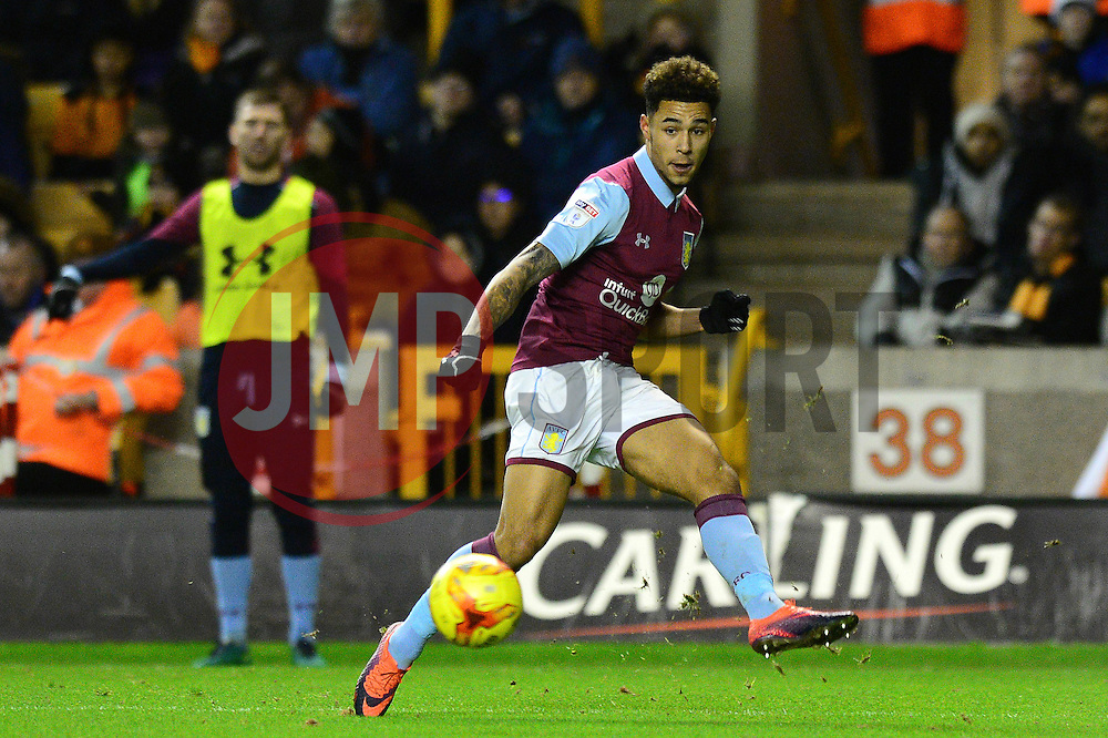 Andre Green of Aston Villa - Mandatory by-line: Dougie Allward/JMP - 14/01/2017 - FOOTBALL - Molineux - Wolverhampton, England - Wolverhampton Wanderers v Aston Villa - Sky Bet Championship