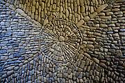 Stone floor, Maison Forte de Reignac, Central France