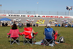 October 14, 2018 - Talladega, AL, U.S. - TALLADEGA, AL - OCTOBER 14: Fans in the infield watch cars pass during the runinng of the 1000Bulbs.com500 on Sunday October 14, 2018 at Talladega SuperSpeedway in Talladega Alabama (Photo by Jeff Robinson/Icon Sportswire) (Credit Image: © Jeff Robinson/Icon SMI via ZUMA Press)