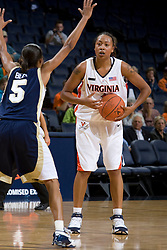 Virginia Cavaliers F Lyndra Littles (1)..The Virginia Cavaliers women's basketball team fell to the #14 ranked George Washington Colonials 70-68 at the John Paul Jones Arena in Charlottesville, VA on November 12, 2007.