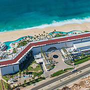 Aerial view of the Marquis Los Cabos hotel.