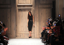 Victoria Beckham at the end of her  show at New York Fashion Week AW 2012, Sunday , February 12th 2012.  Photo by: Stephen Lock / i-Images