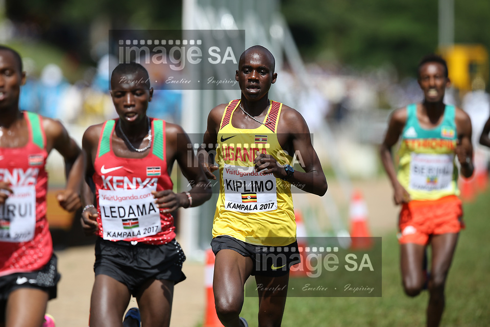 KAMPALA, UGANDA - MARCH 26: Jacob Kiplimo of Uganda during the U20 men race of the 2017 Kampala IAAF World Cross Country Championships on March 26, 2017 in Kampala, Uganda. (Photo by Roger Sedres/ImageSA)