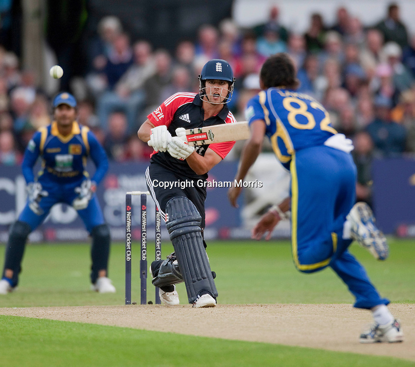 Alastair Cook bats during the fourth one day international between England and Sri Lanka at Trent Bridge, Nottingham. Photo: Graham Morris (Tel: +44(0)20 8969 4192 Email: sales@cricketpix.com) 06/07/11