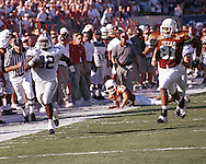 Kansas State's David Allen (32) returns a punt for a touchdown during game action against Texas at Memorial Stadium in Austin, Texas in 1999.