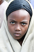 Africa, Ethiopia, Lalibela, portrait of a young local girl