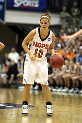 20 March 2010: Jenny Cowen. The Flying Dutch of Hope College fall to the Bears of Washington University 65-59 in the Championship Game of the Division 3 Women's NCAA Basketball Championship the at the Shirk Center at Illinois Wesleyan in Bloomington Illinois.
