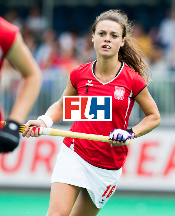 ANTWERP -    Polish Marlena  Rybacha during  the match between the women of India and Poland .   WSP COPYRIGHT KOEN SUYK