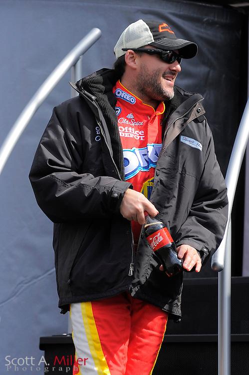 Feb. 13, 2010; Daytona Beach, FL, USA; Nationwide Series driver Tony Stewart (4) prior to the Drive4COPD 300  at Daytona International Speedway. ©2010 Scott A. Miller