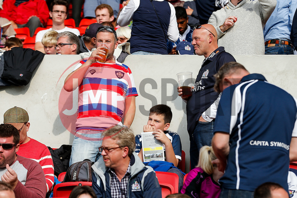 Bristol Rugby supporters - Mandatory byline: Rogan Thomson/JMP - 07966 386802 - 04/10/2015 - RUGBY UNION - Ashton Gate Stadium - Bristol, England - Bristol Rugby v Rotherham Titans - Greene King IPA Championship.