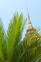 Stupa and palms Wat Phra Kaew Kaeo Thailand&#xA;<br />