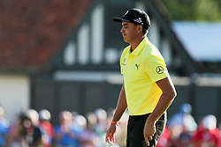 September 21, 2018 - Atlanta, Georgia, United States - Rickie Fowler walks off the 18th green during the second round of the 2018 TOUR Championship. (Credit Image: © Debby Wong/ZUMA Wire)