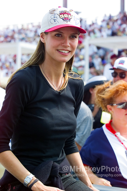 Model Heidi Klum seen at the Indianapolis Motor Speedway on May 30, 1999. Photo by Michael Hickey