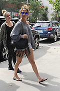 Sept. 7, 2014 - New York, NY, USA - September 7, <br /> <br /> Jennifer Lopez in tight shorts spotted in New York<br /> <br /> Jennifer Lopez out and about in New York City on September 7, 2014  <br /> ©Exclusivepix