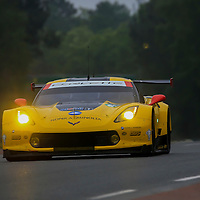 #63, Chevrolet Corvette C7.R, Corvette Racing-GM, driven by Jan Magnussen, Antonio Garcia, Ricky Taylor, 24 Heures Du Mans Test Day, 05/06/2016,