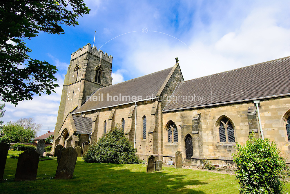 Lund Village, East Yorkshire. All Saint's Church.