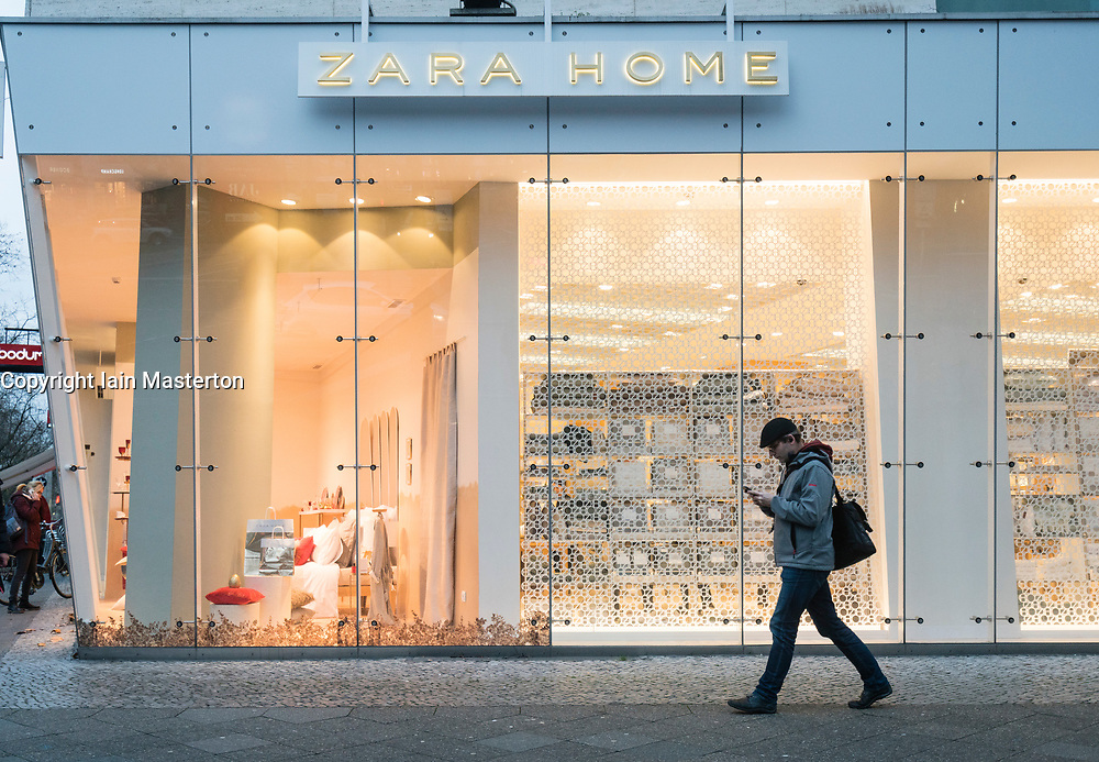 Zara Home store on famous shopping street Kurfurstendamm , Kudamm, in Berlin, Germany.