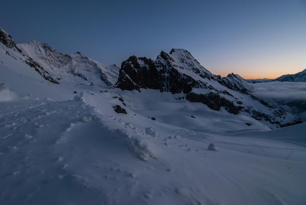 Mischabel at sunrise
