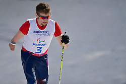 OMAN John competing in the Nordic Skiing XC Long Distance at the 2014 Sochi Winter Paralympic Games, Russia