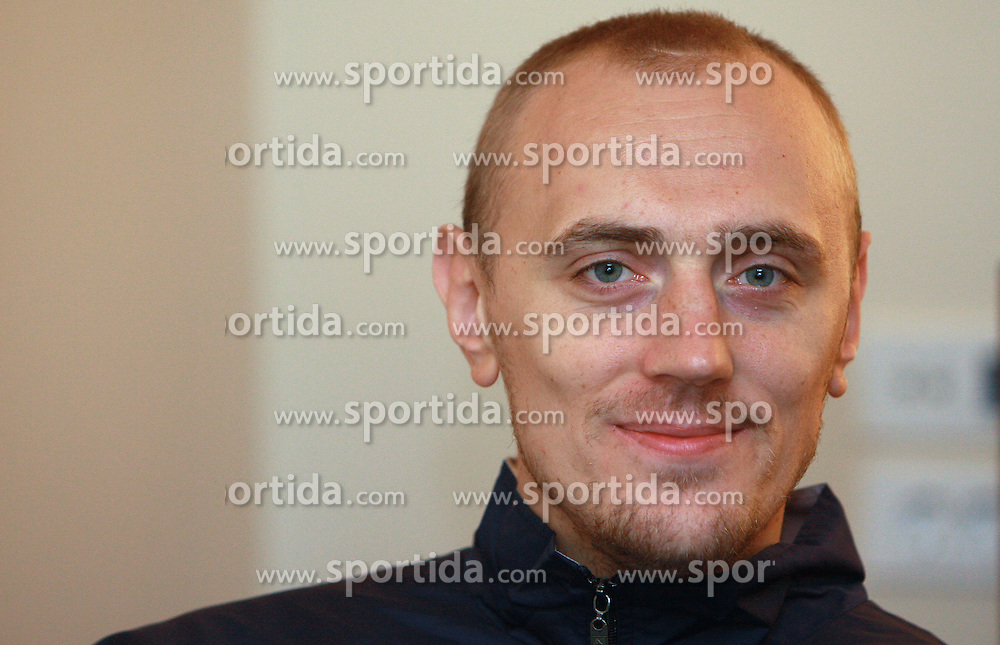 Aleksej Laskevic at press conference of KK Helios Domzale before new season 2008/2009 in NLB league and Slovenian National Championship,  on September 18, 2008 in Hotel Ambient, Domzale, Slovenia. (Photo by Vid Ponikvar / Sportal Images)