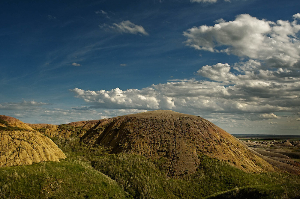 Late afternoon sun in Badlands National Park South of Wall, SD on May 26, 2010.