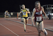 Karissa Schweizer places third in the women's 10,000m in 32:00.55 in the Stanford Invitational in Stanford, Calif., Friday, Mar 30, 2018. (Gerome Wright/Image of Sport)