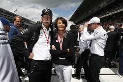 May 13, 2018 - Barcelona, Spain - Motorsports: FIA Formula One World Championship 2018, Grand Prix of Spain, ..Dr. Dieter Zetsche and his wife Anne  (Credit Image: © Hoch Zwei via ZUMA Wire)