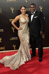 .Megan Wollover, Tracy Morgan   attend  2016 Creative Arts Emmy Awards - Day 1 at  Microsoft Theater on September 10th, 2016   in Los Angeles, California.Photo:Tony Lowe/Globephotos