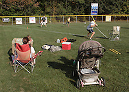 Scotchtown, New York -  Players compete in the Wiffle for Kids charity Wiffle Ball tournament at the Town of Wallkill Little League fields on Sept. 25, 2010. The annual event is run by the Wallkill East Rotary. ©Tom Bushey / The Image Works
