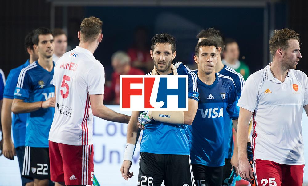 Odisha Men's Hockey World League Final Bhubaneswar 2017<br /> Match id:14<br /> England v Argentina , Quater Final<br /> Foto: Injured Agustin Mazzilli (Arg) , shoulder, <br /> WSP COPYRIGHT KOEN SUYK
