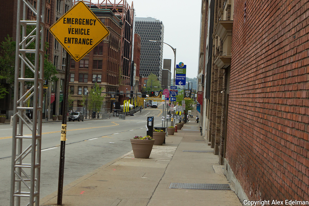 The final 150 yards of the Pittsburgh Marathon course- scene of Jeff's cardiac arrest on May 1, 2015.