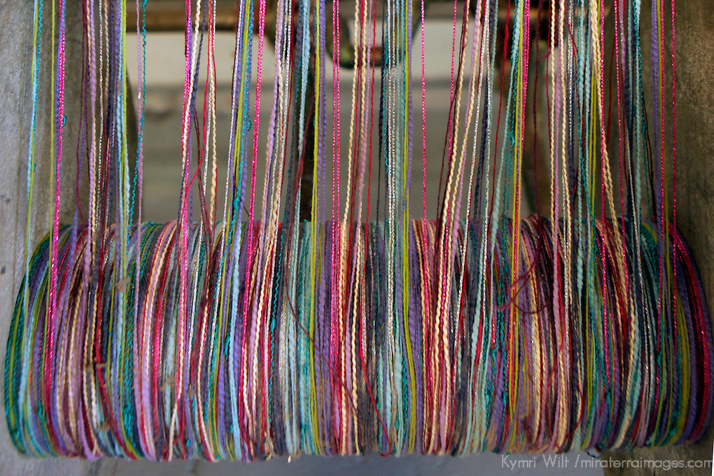 Europe, Ireland, Avoca. Avoca Handweavers Mill, County Wicklow. Woollen Threads.