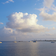 Boats on the bay..Cozumel,Q.Roo. Mexico.