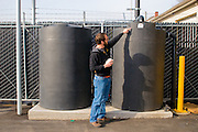 The 3rd way HUB diverts rainwater is to collect it in two huge tanks and reuse it for refrigeration.