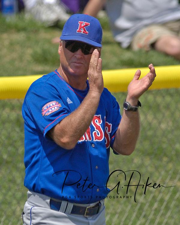 Kansas head coach Ritch Price during action against Kansas State.  The Wildcats held on to beat Kansas 5-4 at Tointon Stadium in Manhattan, Kansas, April 23, 2006.