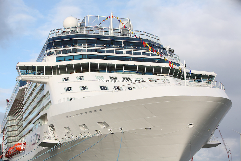 Celebrity Reflection departs on its preview sailing out of The Netherlands before beginning its European inaugural sailing on 12th October 2012 from Amsterdam..Celebrity Reflection alongside in Eemshaven.