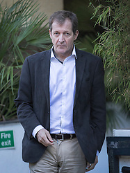 © Licensed to London News Pictures. 09/10/2016. London, UK. Former Labour Party Government Director of Communications Alastair Campbell leaves the ITV studios after appearing on Peston on Sunday show. Photo credit: Peter Macdiarmid/LNP