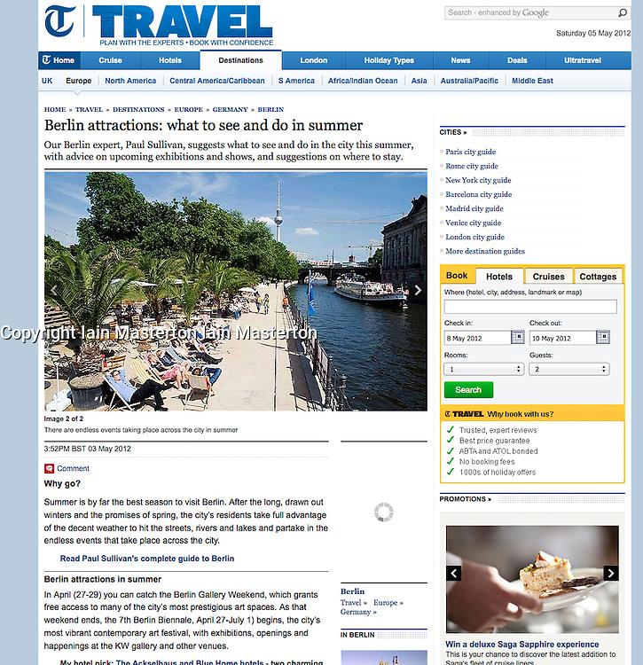 Screenshot from The Telegraph..summer in Berlin