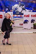 AMSTERDAM - Prinses Beatrix is met prinses Margarita aanwezig tijdens Jumping Amsterdam in de RAI. ANP ROYAL IMAGES ROBIN UTRECHT