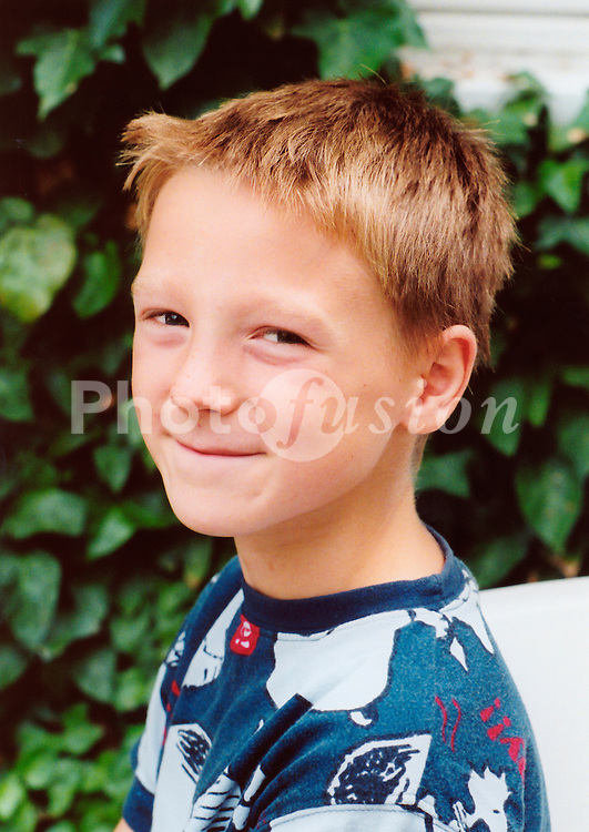 Portrait of small boy smiling