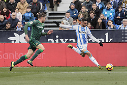 February 10, 2019 - Madrid, Madrid, Spain - CD Leganes's Youssef En-Nesyri during La Liga match between CD Leganes and Real Betis Balompie at Butarque Stadium in Madrid, Spain. February 10, 2019. (Credit Image: © A. Ware/NurPhoto via ZUMA Press)